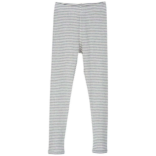 Serendipity Organics Child Leggings - Grey/Off White Stripe
