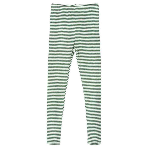 Serendipity Organics Child Leggings - Olive/Off White Stripe