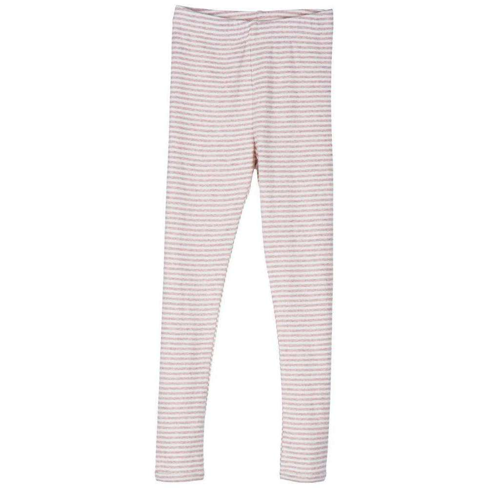 Serendipity Organics Child Leggings - Pink/Off White Stripe