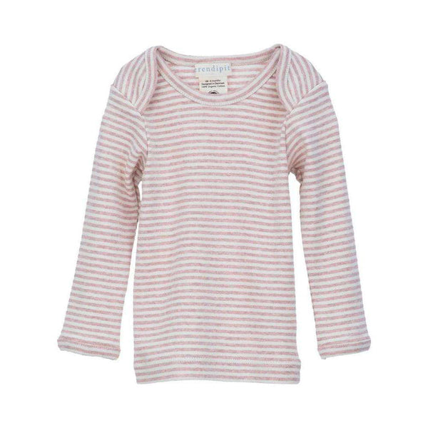 Serendipity Organics Baby Long Tee - Pink/Offwhite