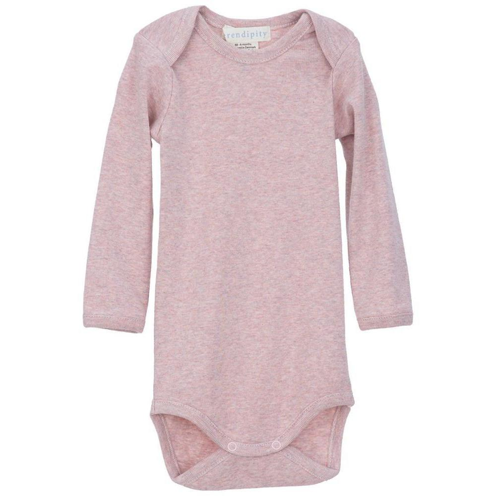 Organic Cotton Baby Body - Pink Melange