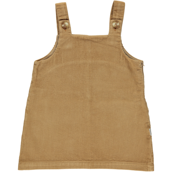 Organic Corduroy Pinafore - Brown Sugar