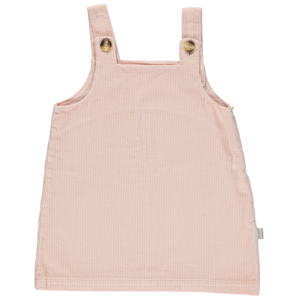 Organic Corduroy Pinafore - Evening Sand