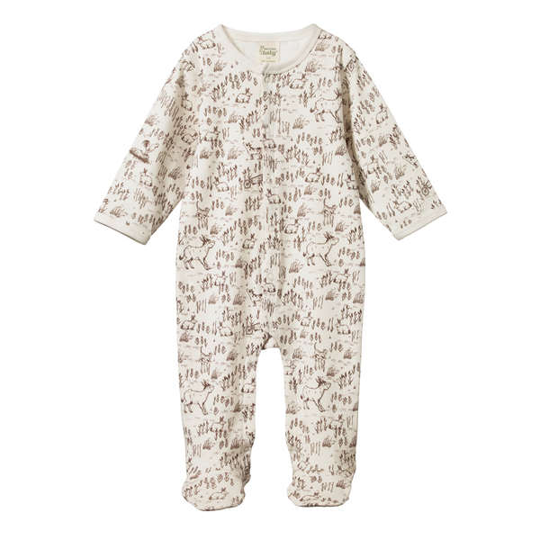 Organic Cotton Stretch and Grow - Barnyard Print