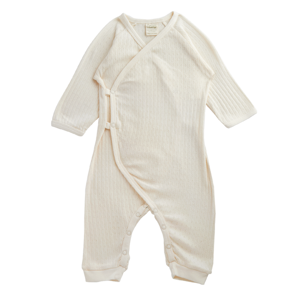 Pointelle Kimono Stretch & Grow - Natural