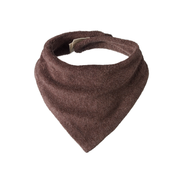 Terry Triangle Bib - Truffle Marl