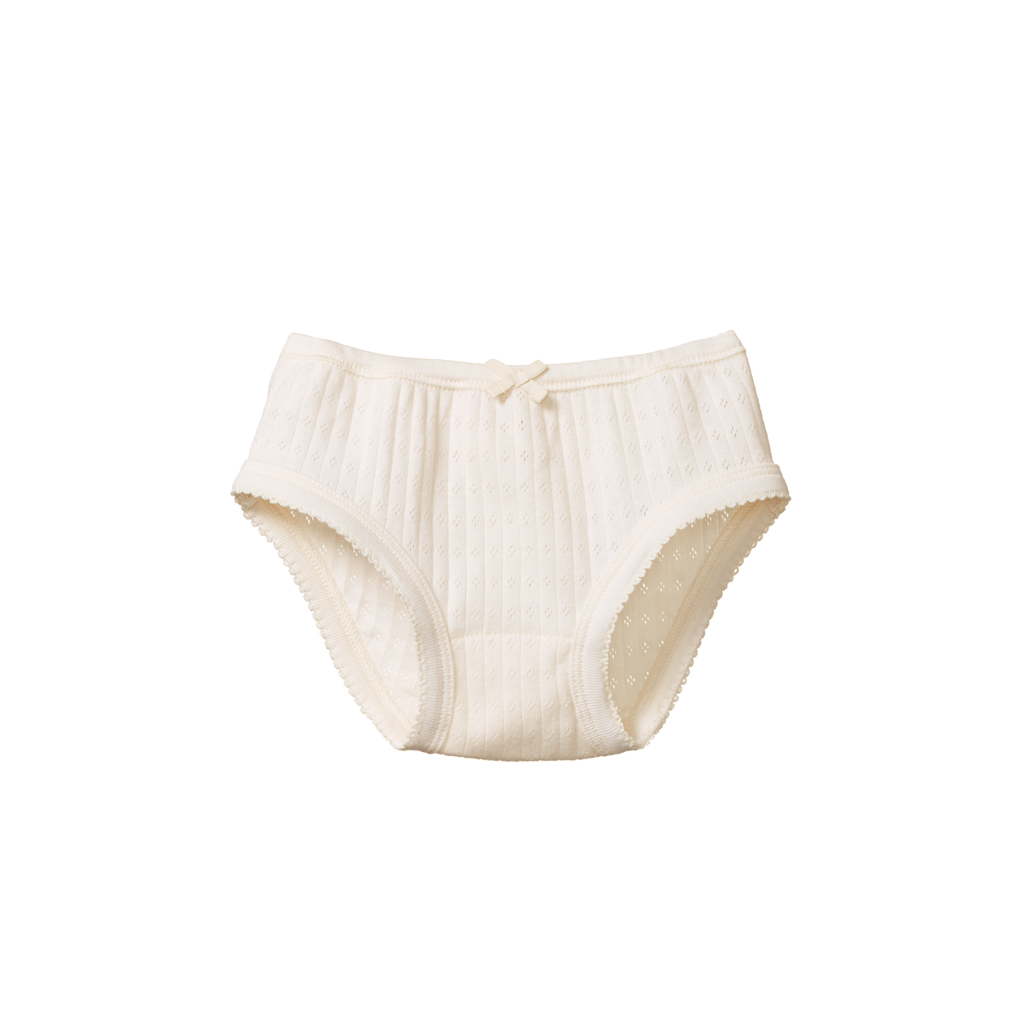 Pointelle Girls Underpants - Natural