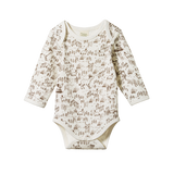 Organic Cotton Long Sleeve Body Suit - Barnyard Print (last one - 3-6m)