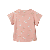 Juniper Tee - Dragonfly Lily Print