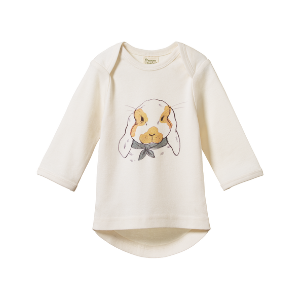 Simple Tee - Barnaby Bunny Natural Print