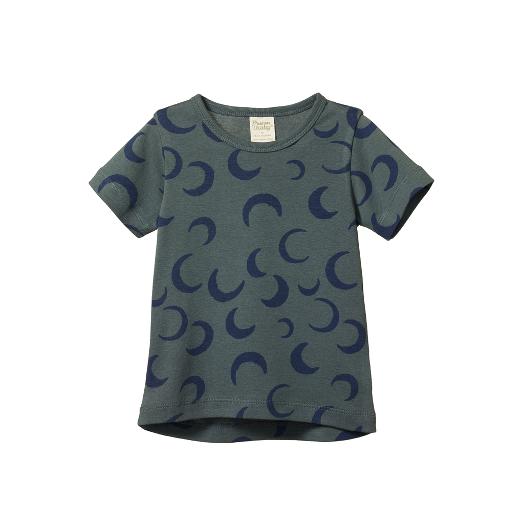 River Tee - Crescent Moon Valley Blue Print