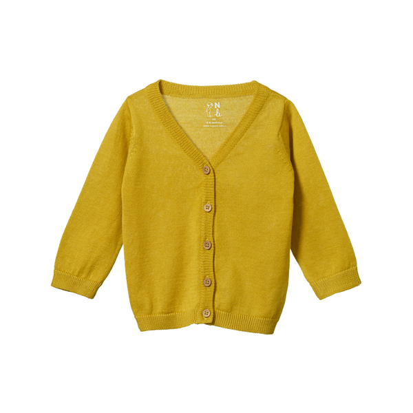 Light Cotton Knit Cardigan - Sunny