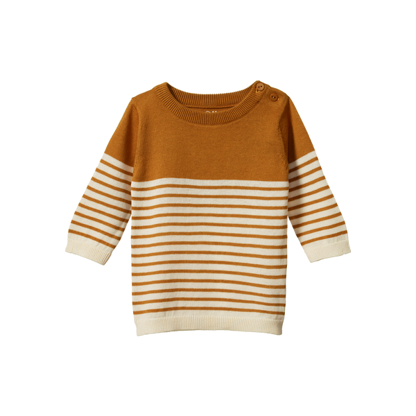 Light Cotton Knit Jumper - Harvest Sailor Stripe