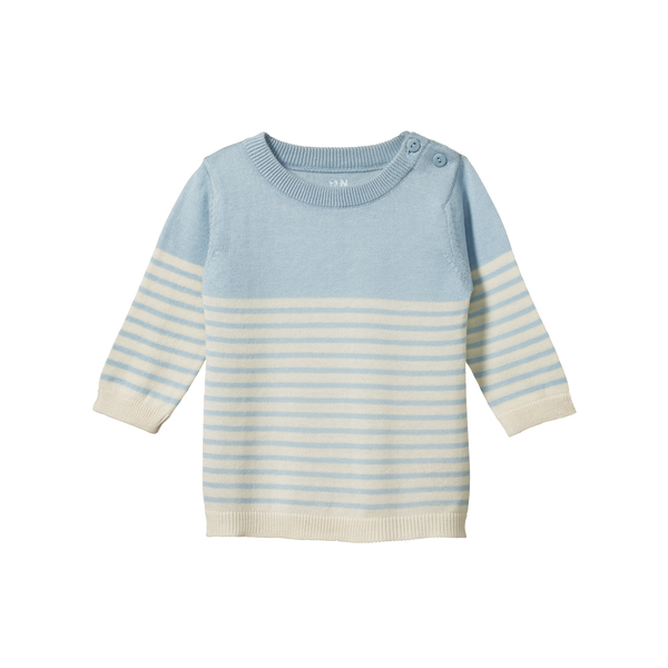 Light Cotton Knit Jumper - Pond Sailor Stripe