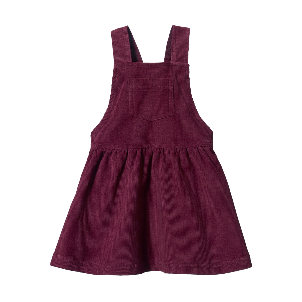 Pinafore Cord Dress - Elderberry (last one 6-12m)