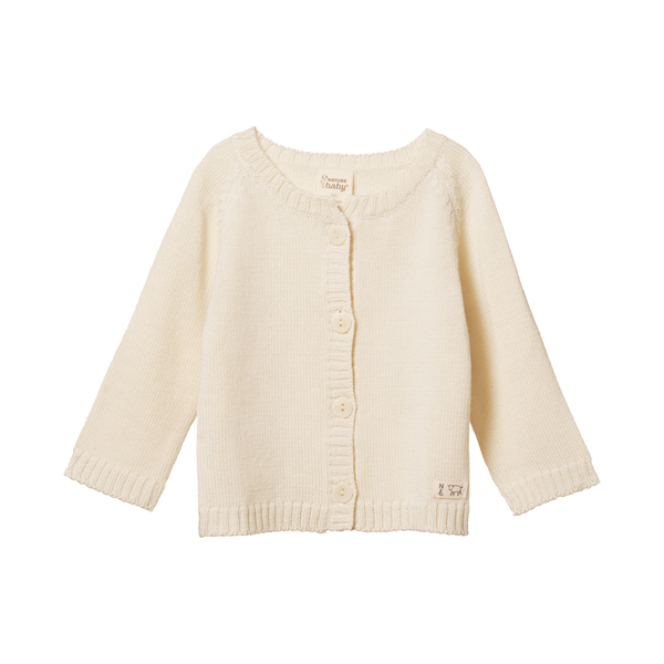 Merino Knit Cardigan - Natural