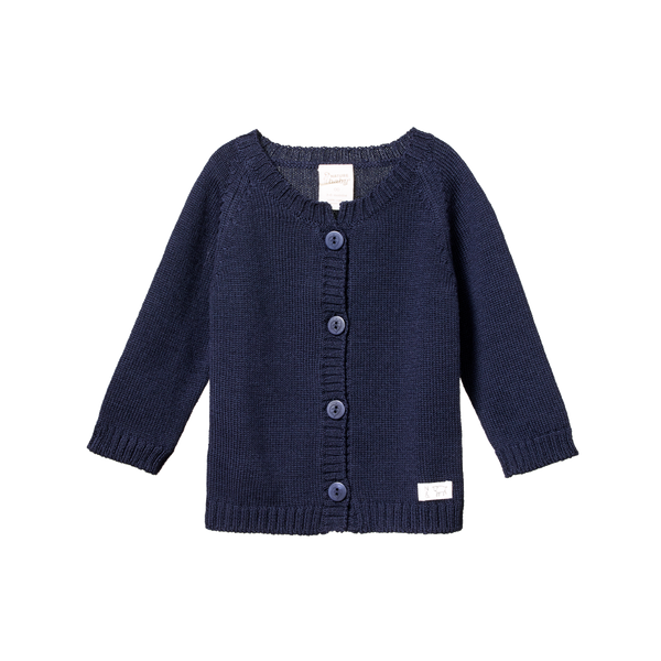Merino Knit Cardigan - Navy