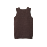 Merino Knit Vest - Chocolate