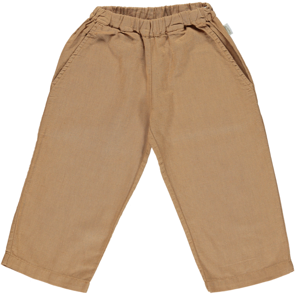 Organic Cotton & Linen Trousers - Brown Sugar