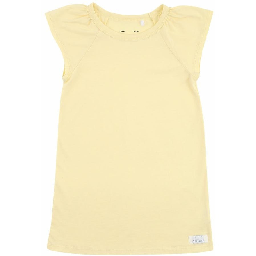Organic Cotton Nightdress - Pastel Yellow