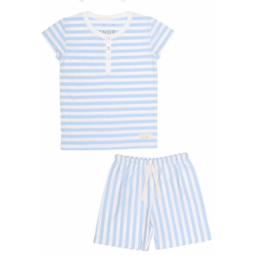 Organic Cotton Pyjama Short Set - Seastripes