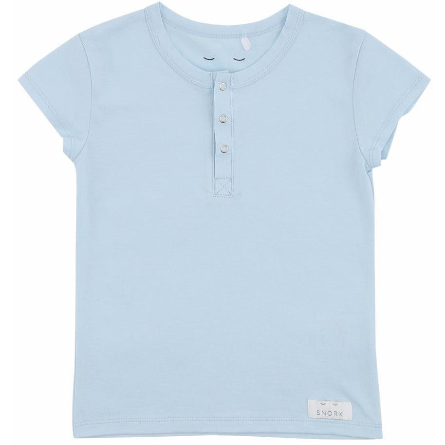Organic Cotton Pyjama Short Set - Sky Blue
