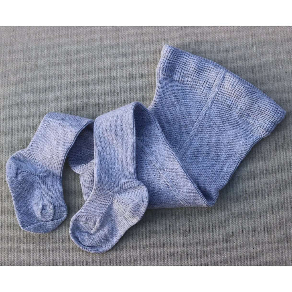 Selana Thick Organic Cotton Baby Tights - Grey