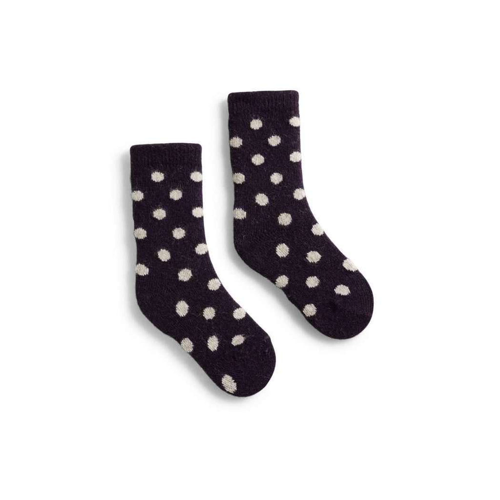 Toddler Classic Dot Wool & Cashmere Socks - Amethyst