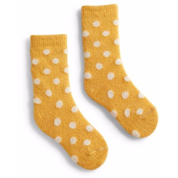 Toddler Classic Dot Wool & Cashmere Socks - Yellow