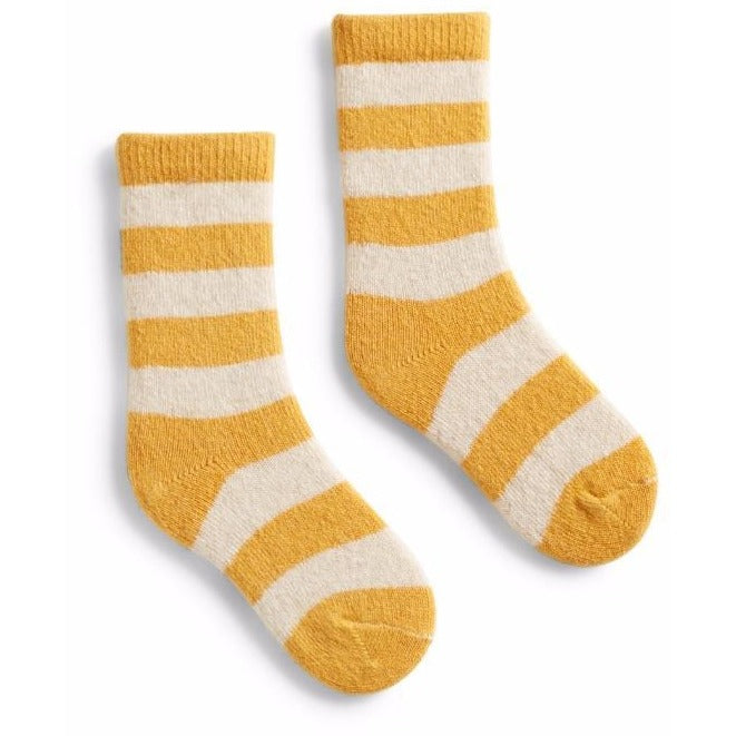 Toddler Classic Stripe Wool & Cashmere Socks - Yellow