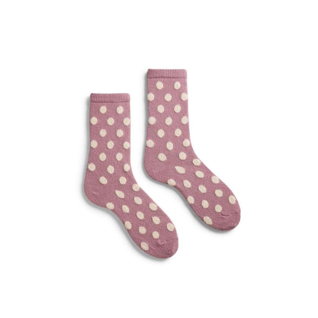 Lisa b. Women's Classic Dot Socks - Mauve (last one)