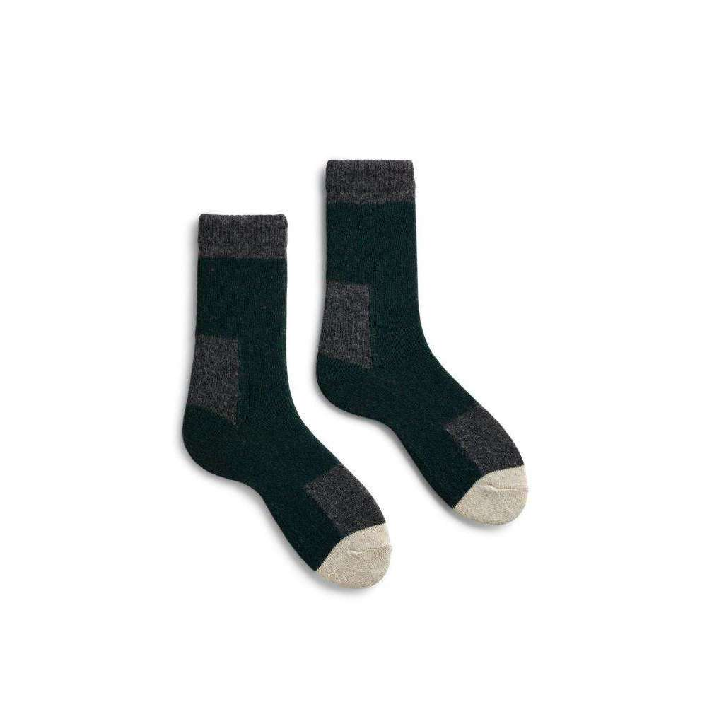 Lisa b. Women's Wool Cashmere Patch Socks - Ivy