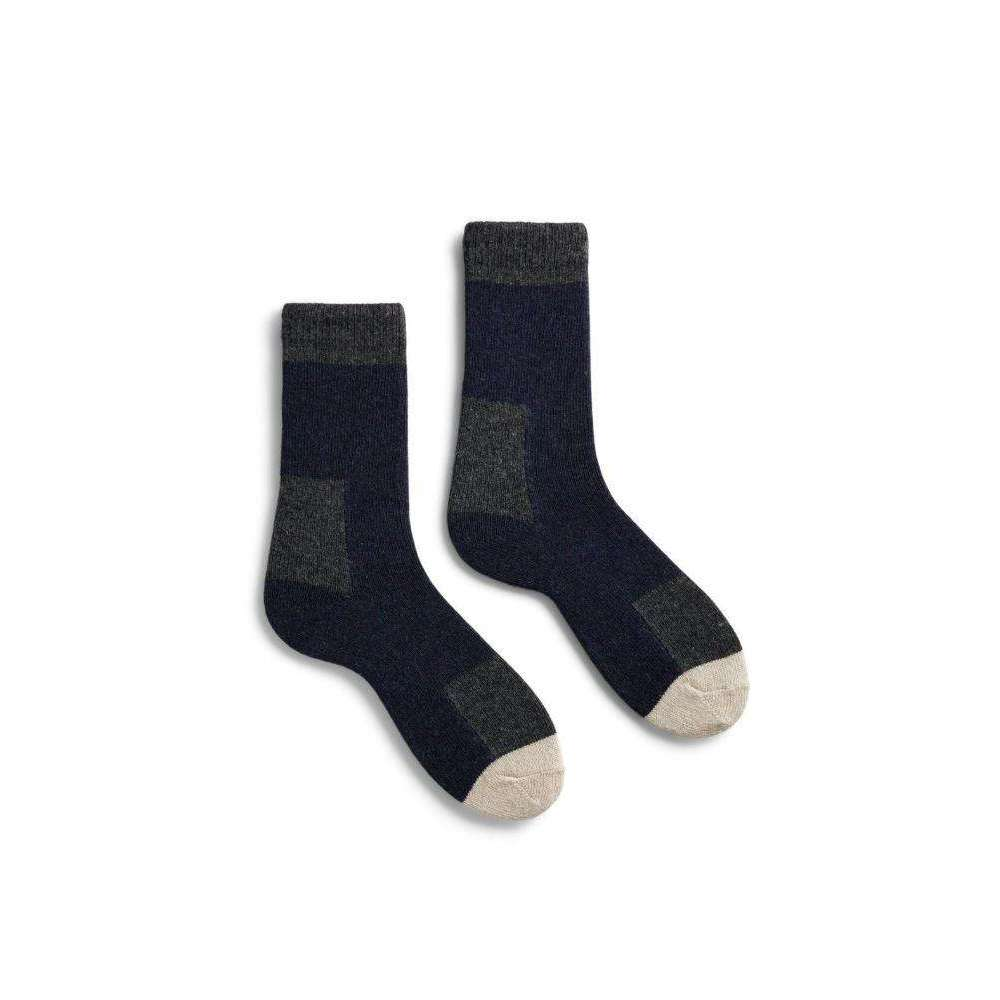 Lisa b. Women's Wool Cashmere Patch Socks - Navy