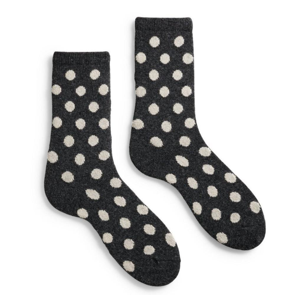 Lisa b. Women's Classic Dot Socks - Charcoal (last one)