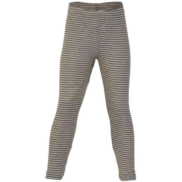 Engel Wool/Silk Leggings - Walnut/Natural Stripe