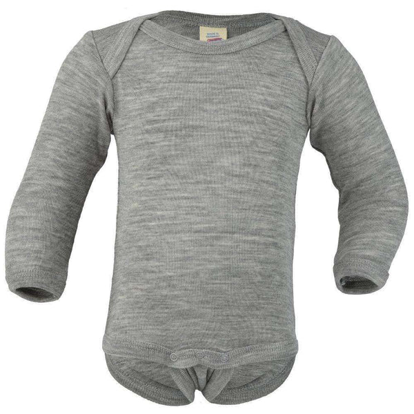Engel Wool/Silk Long Sleeved Bodysuit – Grey Melange