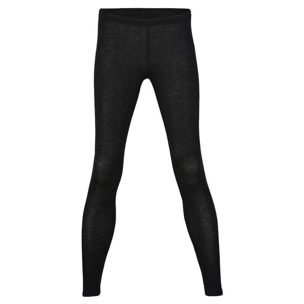 Womens Merino Wool & Silk leggings - Black
