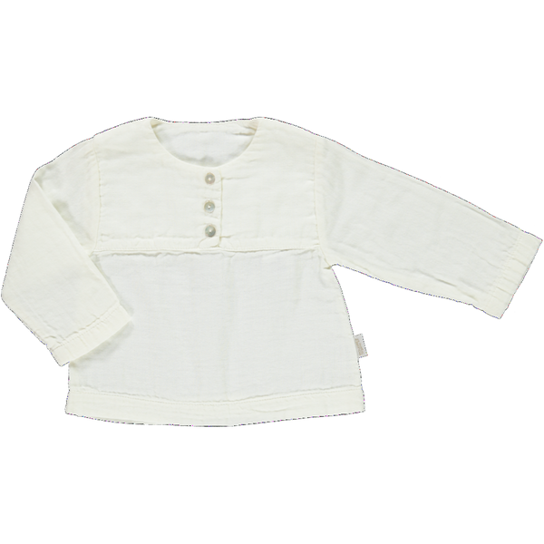 Poudre Organic Cotton Button Top - Lait