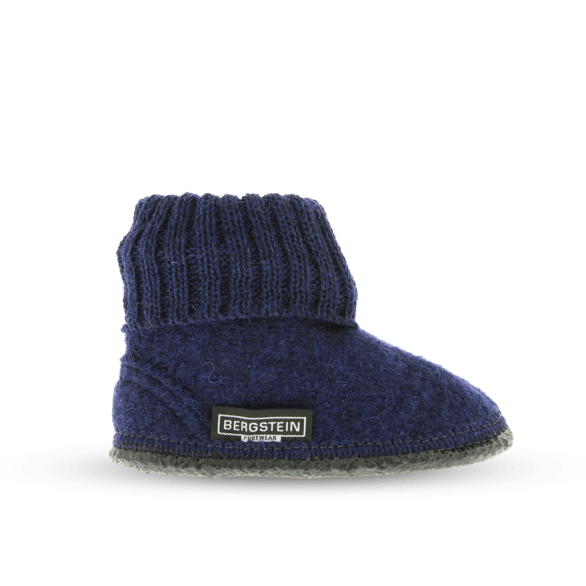 Cozy Adults Wool Slipper - Dark Blue