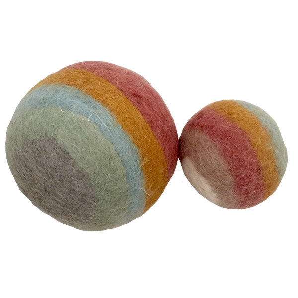 Earth Rainbow Balls - 2 Pieces