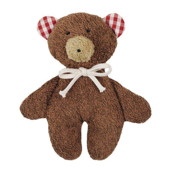 Organic Rattle Teddy - Brown