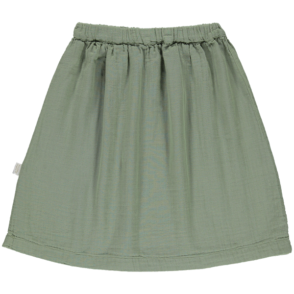 Organic Cotton Grenade Long Skirt - Oil Green