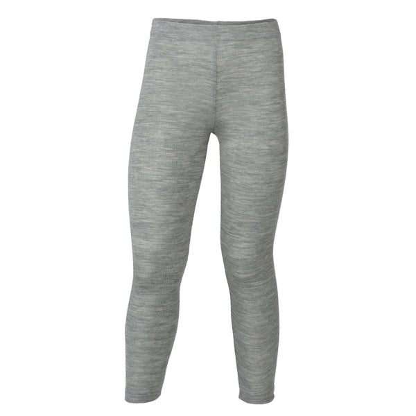 Engel Wool/Silk Child Leggings (1y-10y) - Light Grey Melange
