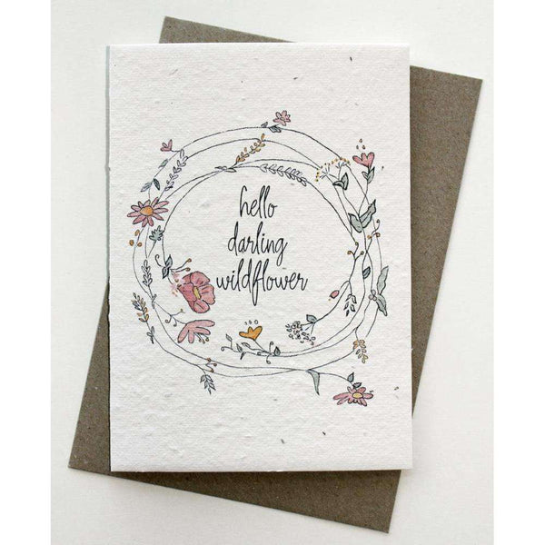 Plantable Card - Hello Darling Wildflower