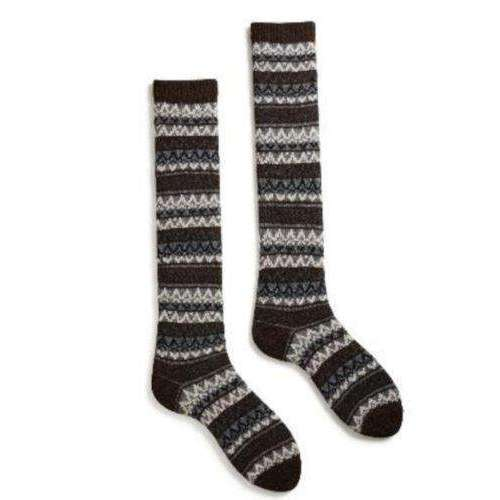 Lisa b. Women's Fairisle Knee High Socks - Espresso (last one)