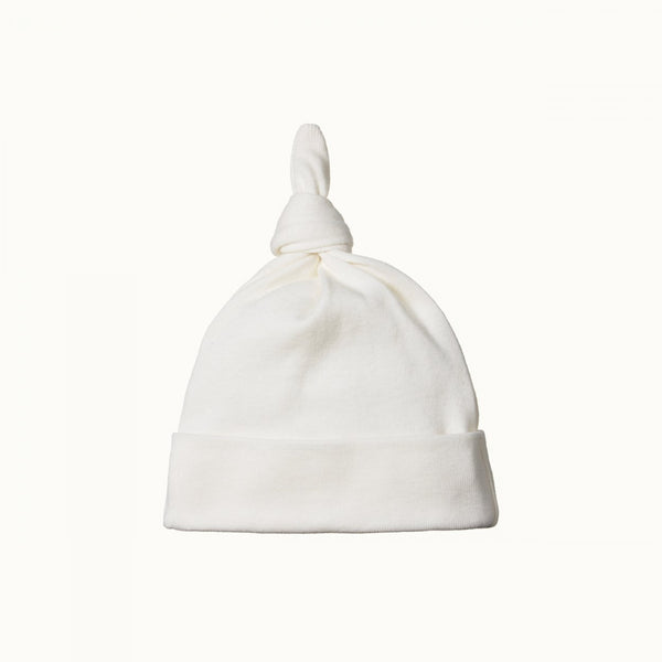 Organic Cotton Knotted Beanie - Natural