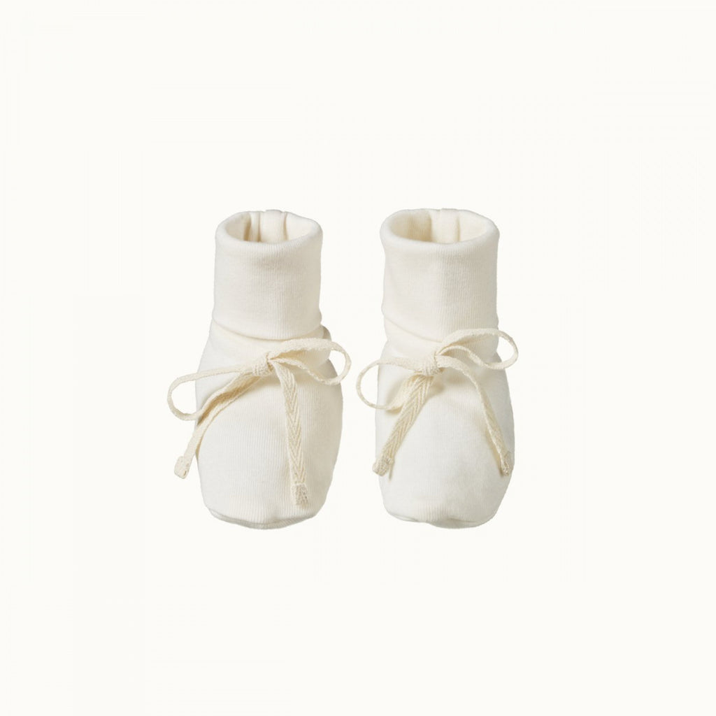 Organic Cotton Booties - Natural