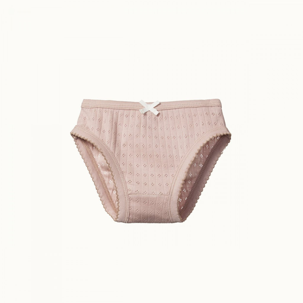 Pointelle Girls Underpants - Rose Bud