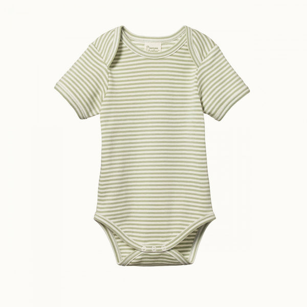 Short Sleeve Body Suit - Tea Stripe