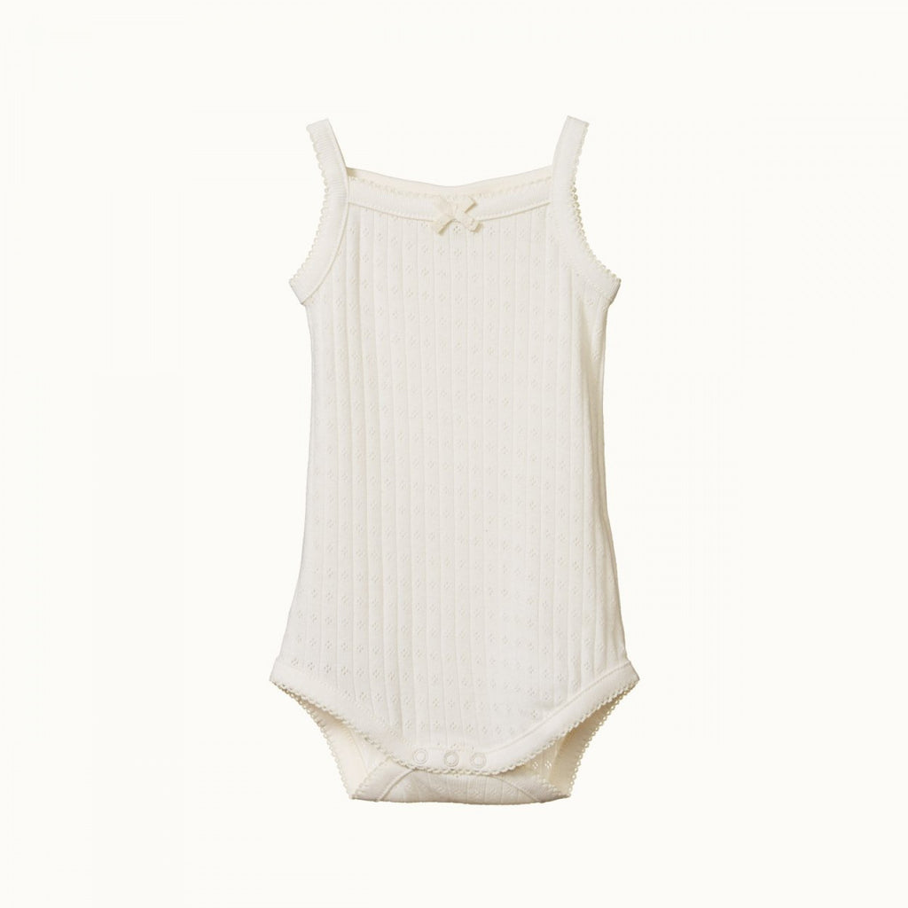 Camisole Bodysuit Pointelle - Natural